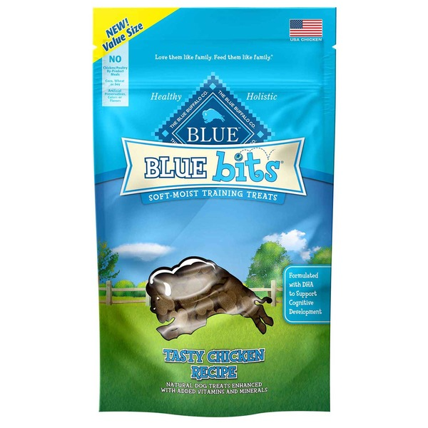 Blue Buffalo Blue Bits Soft-Moist Training Treats Tasty Chicken Recipe