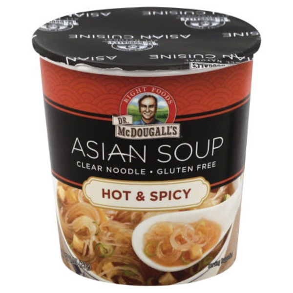 Dr. McDougall's Right Foods Gluten Free Hot & Spicy Clear Noodle Soup