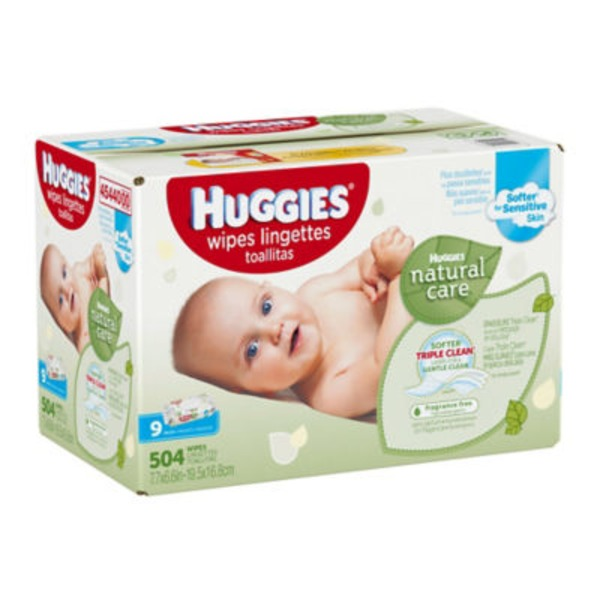 Huggies Fragrance Free Natural Care Wipes