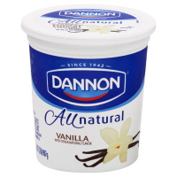 Dannon All Natural Yogurt Vanilla