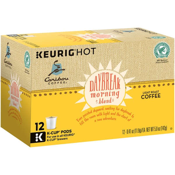 Caribou Coffee Daybreak Morning Blend, Light Roast K-Cups