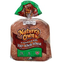 Nature's Own 100% Whole Wheat Sandwich Rolls