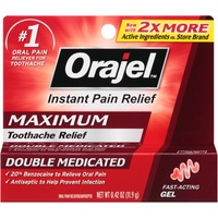Orajel Maximum Double Medicated Toothache Relief Gel Oral Pain Reliever