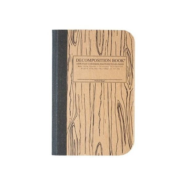 Decomposition Book Notebook Wood Pocket Size