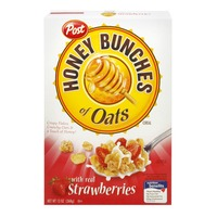 Honey Bunches Of Oats Post Honey Bunches of Oats Strawberry Cereal