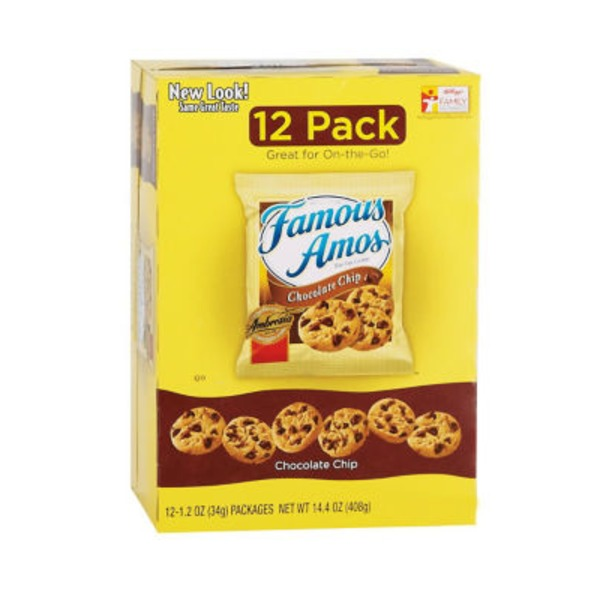 Famous Amos Bite Size Chocolate Chip Cookies - 12 PK