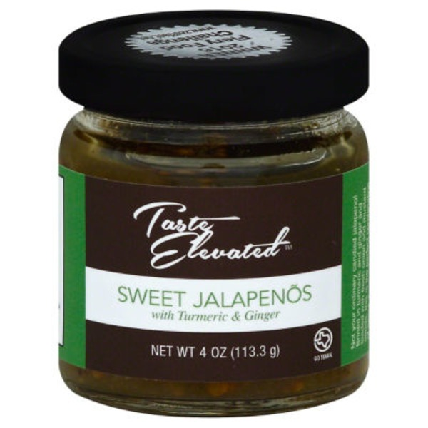 Taste Elevated Sweet Jalapenos With Turmeric & Ginger
