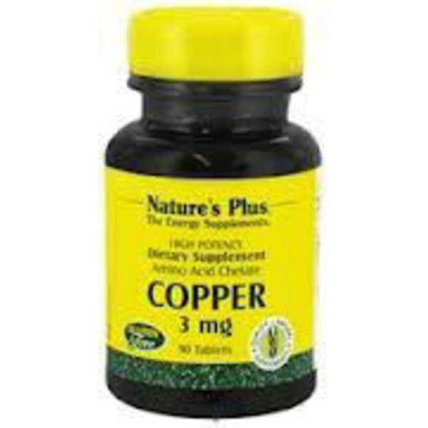 Nature's Plus Copper 3 Mg Tabs