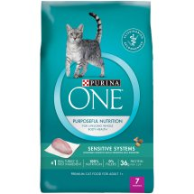 Purina ONE Sensitive Systems Adult Premium Cat Food 7 lb. Bag