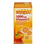 Emergen-C (30 Count, Tangerine Flavor) Dietary Supplement Fizzy Drink Mix with 1000 mg Vitamin C, 0.33 Ounce Packets, Caffeine Free