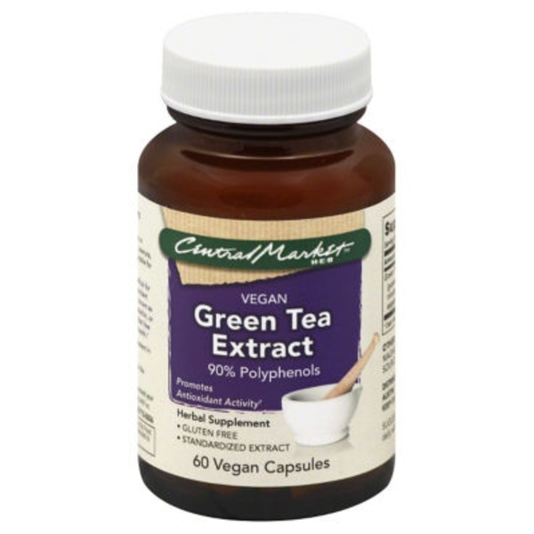 Central Market Green Tea Extract 90% Polyphenols Vegan Capsules
