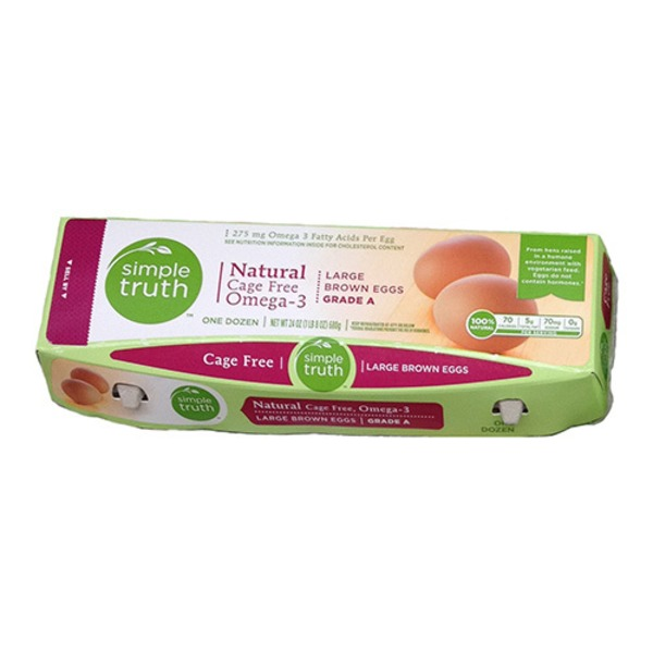 Simple Truth Grade A Cage-Free Grain-Fed Large Brown Eggs