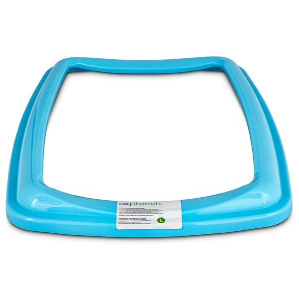 So Phresh Aqua Blue Large Open Litter Box Rim