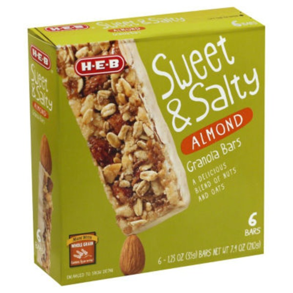 H-E-B Sweet And Salty Almond Granola Bars