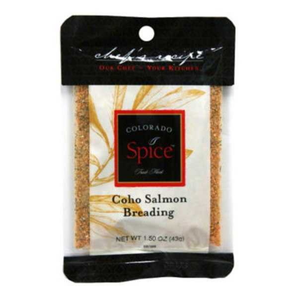 Colorado Spice Chef's Recipe Coho Salmon Breading