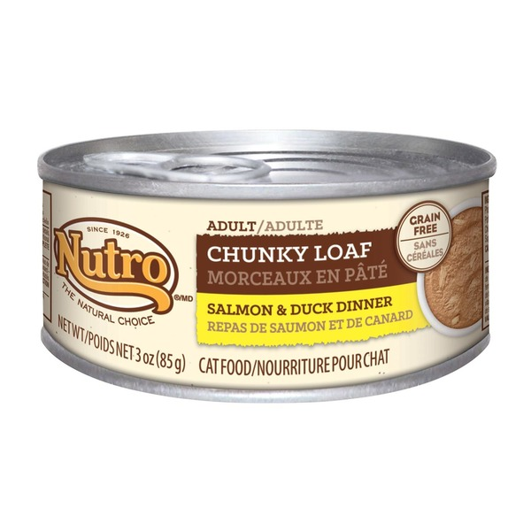 Nutro Adult Chunky Loaf Salmon & Duck Dinner Cat Food