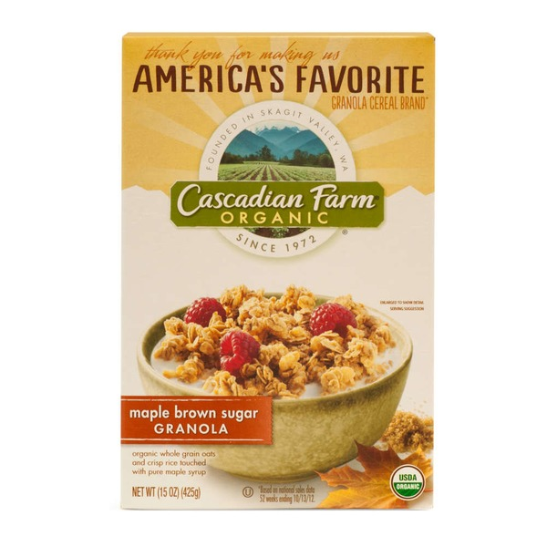 Cascadian Farm Organic Oats and Honey Granola