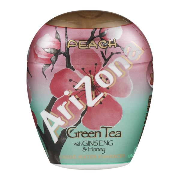 AriZona Liquid Water Enhancer Peach Green Tea With Ginseng & Honey