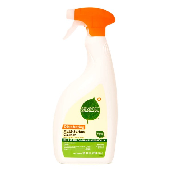 Seventh Generation Disinfecting Lemongrass Citrus Scent Multi-Surface Cleaner
