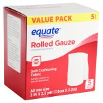 Equate Rolled Gauze, 3 inches X 2.5 yards, 5 count