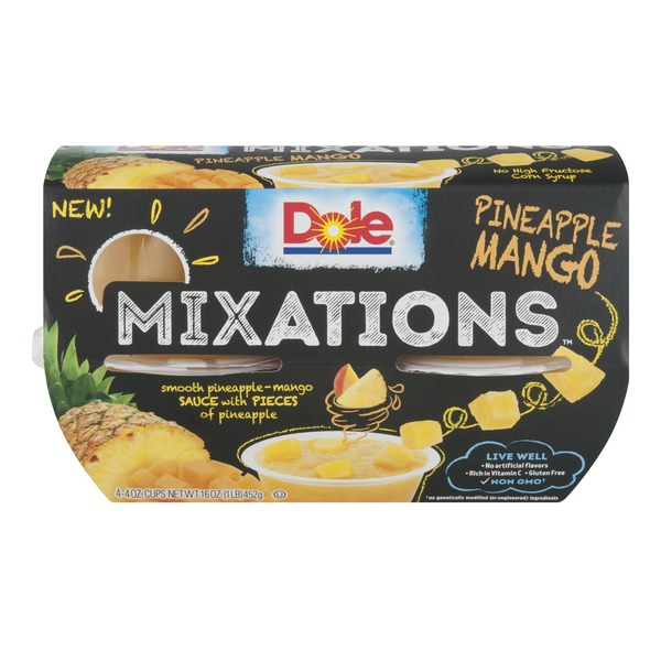 Dole Mixations Pineapple Mango Fruit Cups