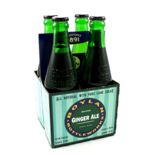 Boylan Bottleworks Brand Ginger Ale Vintage Soda Pop - 4 CT
