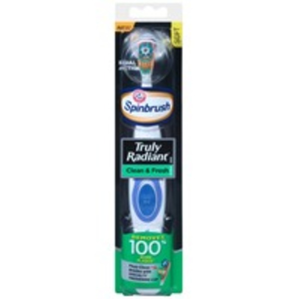 Arm & Hammer Spinbrush Truly Radiant Clean & Fresh Soft Powered Toothbrush