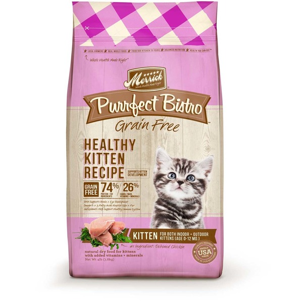 Merrick Purrfect Bistro Grain Free Healthy Kitten Food