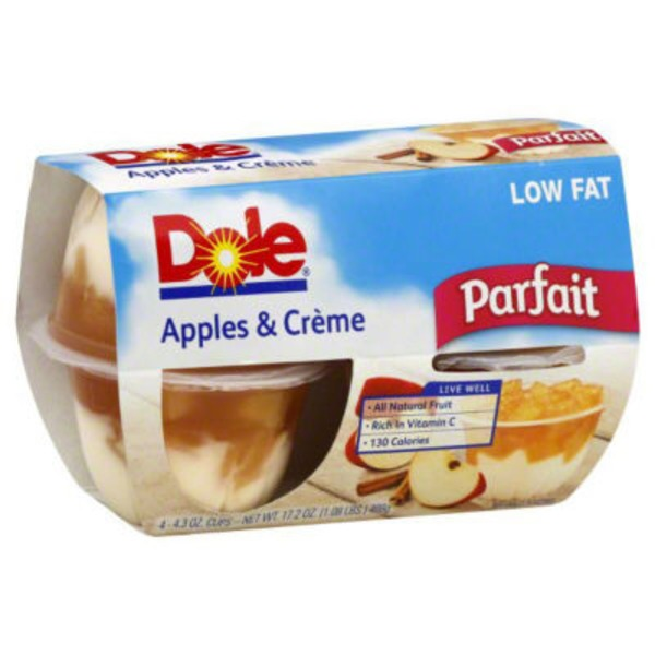 Dole Fruit Bowls Apple & Creme Parfait