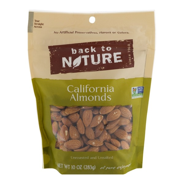 Back to Nature California Almonds Unsalted