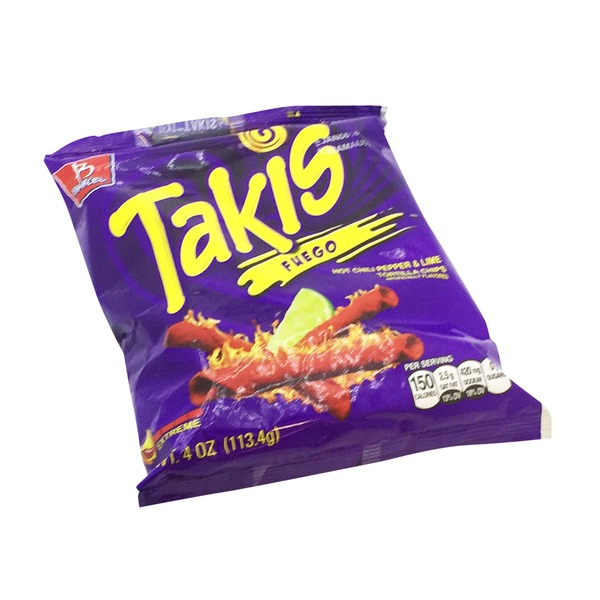 Barcel Takis Extreme Hot Chili Pepper & Lime Tortilla Chips