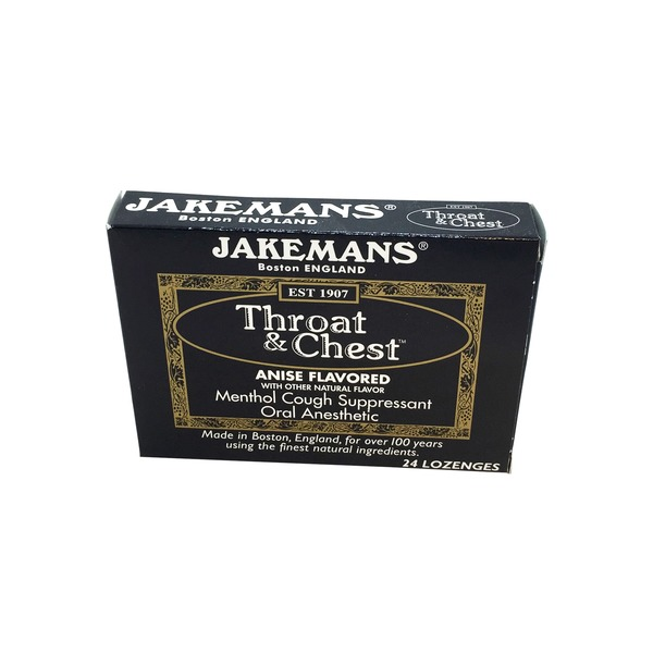 Jakemans Menthol Cough Suppressant, Anise, Throat & Chest, Box