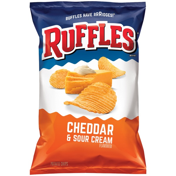 Ruffles Cheddar & Sour Cream Potato Crisps