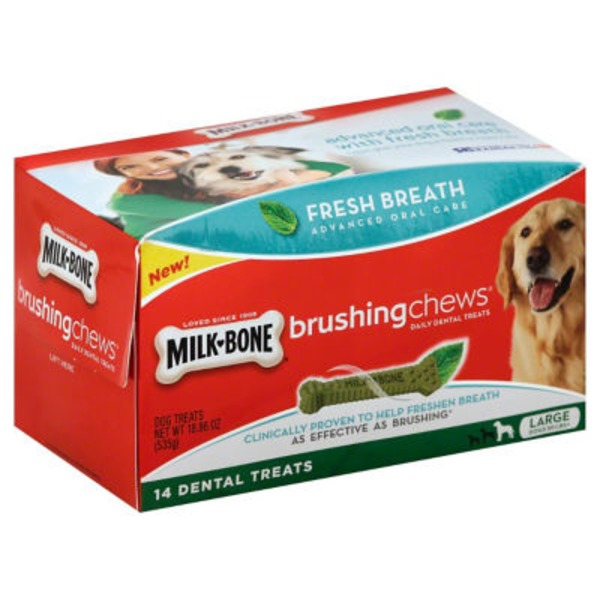 Milk-Bone Large Dog Treats Brushing Chews - 14 CT