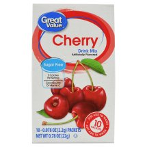 Great Value Drink Mix, Cherry, Sugar-Free, 0.78 oz, 10 Count