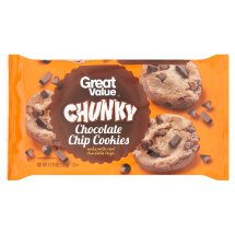 Great Value Chunky Cookies, Chocolate Chip, 13 Oz