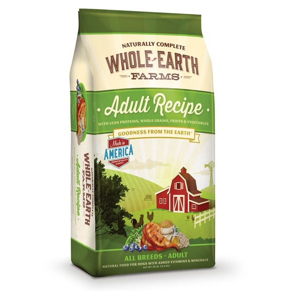 Whole Earth Farms Adult Dog Food 30 Lbs.