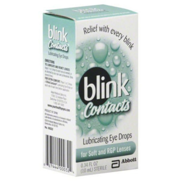 Blink Contacts Lubricating Eye Drops for Soft & RGP Lenses