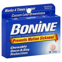Bonine Raspberry Chewable Tablets for Motion Sickness with Travel Case