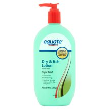 Equate Medicated Triple Relief Dry & Itch Lotion, 14 Oz
