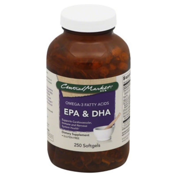 Central Market Epa And Dha Omega 3 Fatty Acids Softgels