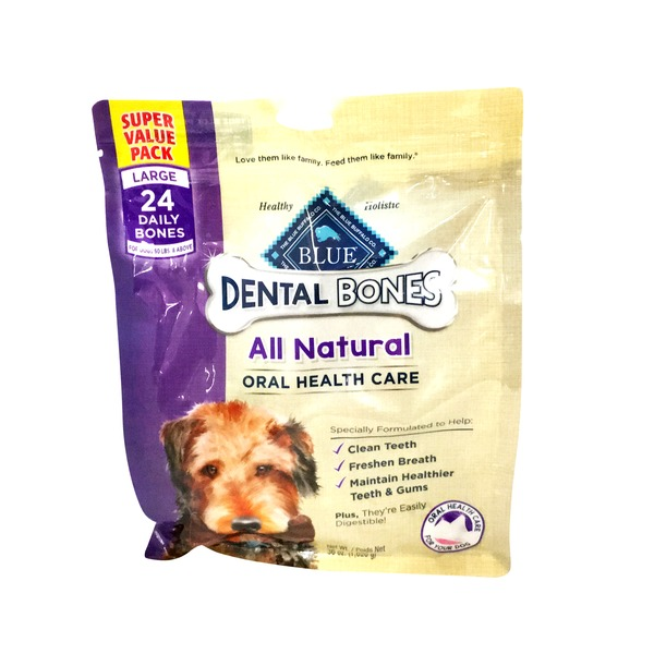 Blue Buffalo Dental Bones Oral Health Care Large Dog Chews