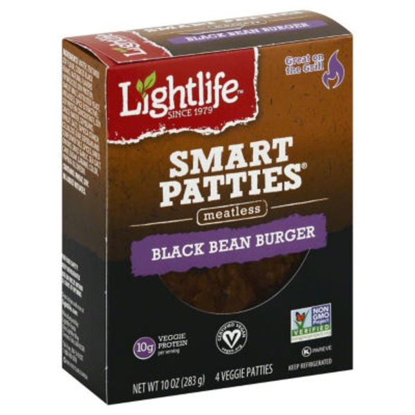Lightlife Black Bean Burger Meatless Patties