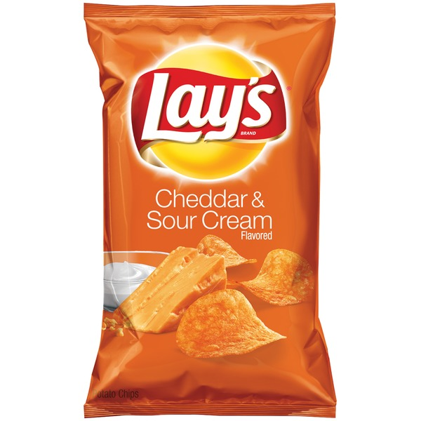 Lay's Cheddar & Sour Cream Flavored Potato Chips
