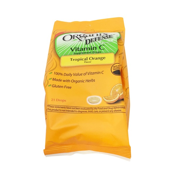 Organix Tropical Orange Flavor Vitamin C Supplement Drops