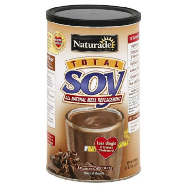 Naturade Meal Replacement, All Natural, Total Soy, Bavarian Chocolate