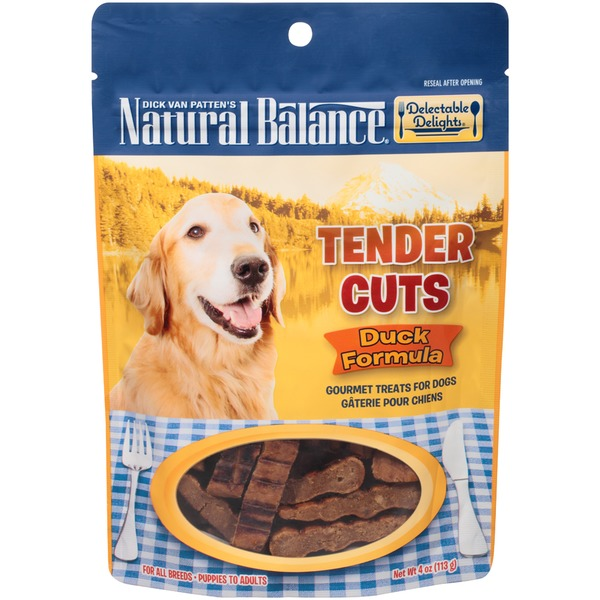 Natural Balance Delectable Delights Tender Cuts Duck Formula Gourmet Dog Treats