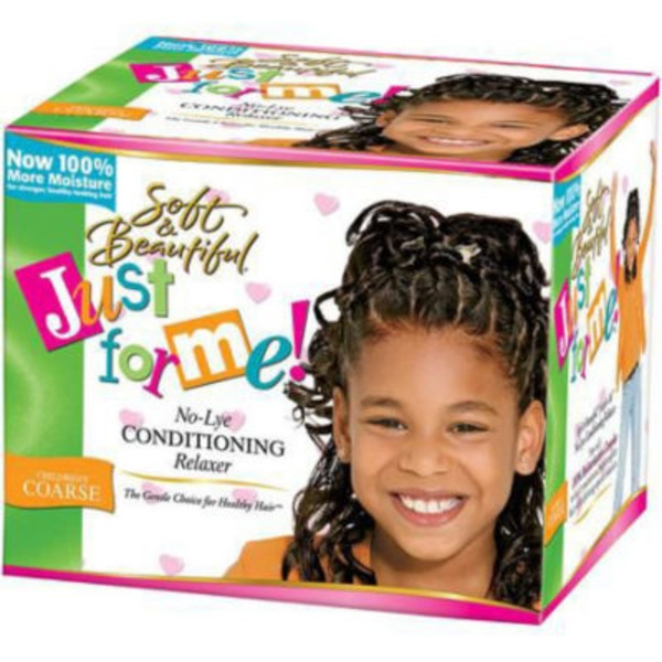 Just for Me Super No Lye Conditioning Creme Relaxer Kit