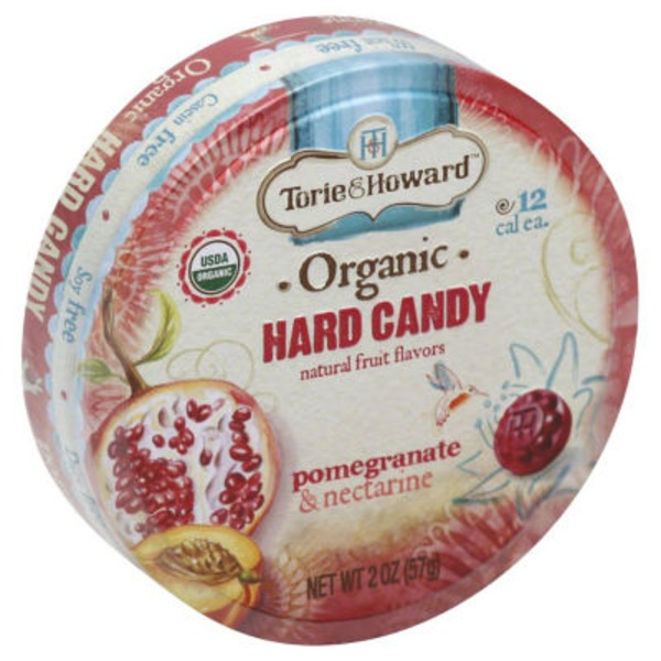 Torie & Howard Organic Hard Candy Pomegranate & Nectarine