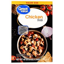 Great Value Chicken Broth, Value Size, 48 oz
